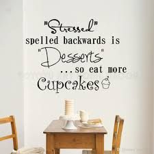 Cupcakes Window Decal Stressed Is Desserts Wall Sticker Kitchen Bakery Decoraiton Cakes Quote Wall Window Mural Vinyl Art Removable Stickers For Walls Removable Vinyl Wall Decals From Joystickers 13 39 Dhgate Com