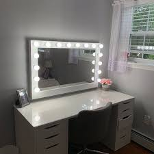 hollywood lighted vanity mirror large