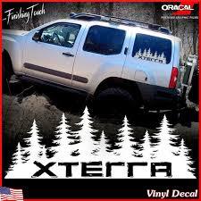 Nissan Xterra Decal Custom Vinyl Forest Silhouette Graphic Nissan Xterra Truck Mods Nissan