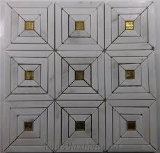 mosaic mix gold glass backsplash tile