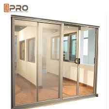 aluminum tempered glass entry sliding