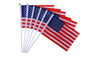 50 pcs small america stick flags