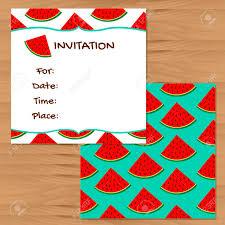 Tarjetas De Invitacion Sandia Fondos De Colores Ilustraciones