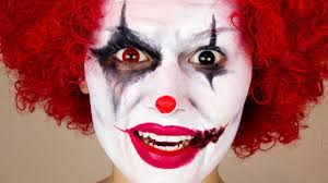 scary clown makeup you
