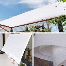 White Sun Shelter Canopy Sun Shade Sail Home Garden Awnings Outdoor Protection Covers Square Patio Glass House Customized Size Shade Sails Nets Aliexpress