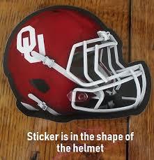 University Of Oklahoma Sooners Football Helmet Decal Ncaa Die Cut Window Sticker 94746838829 Ebay