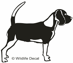 Beagle Md1 Rabbit Deer Dog Decals Window Stickers Wildlife Decal
