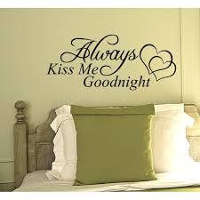 Always Kiss Me Goodnight Wall Decal Quote Vinyl Word Home Sticker Art Walmart Com Walmart Com
