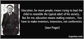 education for most people means trying to lead the child to