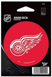Amazon Com Wincraft Detroit Red Wings Official Nhl 3 Inch Round Vinyl Car Decal By 662408 Sports Fan Decals Sports Outdoors