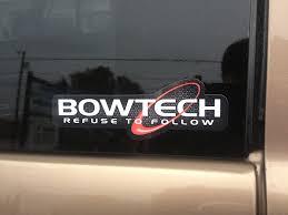 Lg Refuse To Follow Bowtech Bow Bows Vinyl Decal Archery Hunting Sticker Ebay