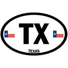 Euro Oval Tx Texas Flags Sticker Decal Car Decal 3 X 5 Inch Walmart Com Walmart Com