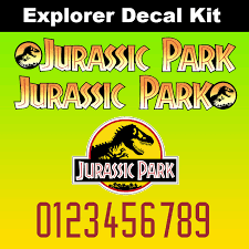 Jurassic Park Explorer Decal Kit Jp Gear