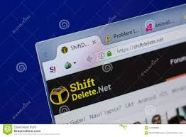 Ryazan, Russia - June 17, 2018: Homepage Of ShiftDelete Website On The  Display Of PC, Url - ShiftDelete.net. Editorial Image - Image of index,  illustrative: 119490865