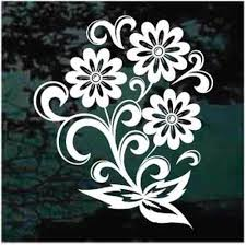 Flower Car Decals Stickers Decal Junky