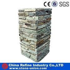 Slate Corner Slate Pillar Slate Post Ledgestone Natural Decorative Stone Column Multicolor Pillar Garden Stone Gate Post Fence Column From China Stonecontact Com