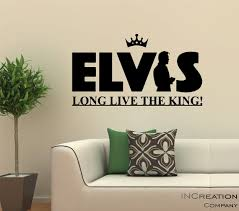 Elvis Presley Vinyl Wall Decal Silhouette Decor Sticker Music Etsy