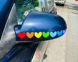 Rainbow Car Decal Etsy