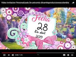 Video Invitacion De Unicornio Para Enviar Por Whatsapp 171 60