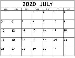 Printable Calendar July 2020 - Free ...