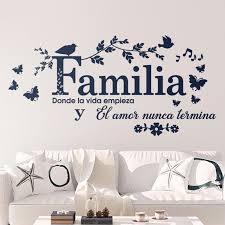 Spanish Family Where Life Begins Quote Wall Sticker Living Room Bedroom Familia Donde La Vida Empieza Quote Wall Decal Vinyl Wall Stickers Aliexpress