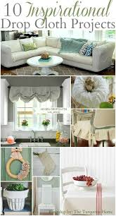10 inspirational drop cloth projects