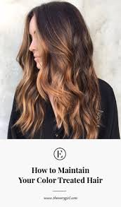 how to maintain your color treated hair