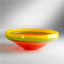 mariachi art glass bowl yellow