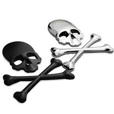 Make 3d 3m Skull Metal Skeleton Crossbones Car Motorcycle Sticker Label Skull Emblem Badge Car Styling Stickers Accessories Decal Buy Hot Express 15