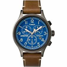 timex mens chronograph leather watch