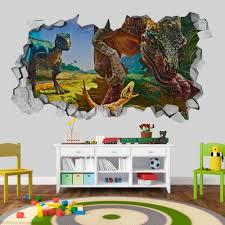 Velociraptor Dinosaur Family 3d Wallpaper 3d Wallpaper 3d Wall Decals 3d Printed 3d Art Wall Sticker Wall Decal Sold By Moonwallstickers Com On Storenvy