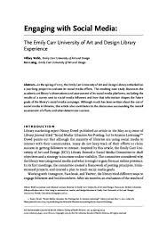 Engaging with Social Media: The Emily Carr University of Art and Design  Library Experience | Arca: Discover BC's Digital Treasures