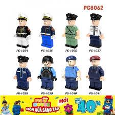 Non-LEGO] Các Nhân Vật Cảnh Sát Với Các Kiểu Đồng Phục PG8062 - Đồ ...