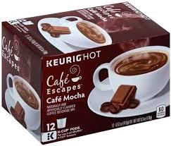cafe escapes cafe mocha k cup pods