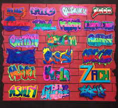 4th grade graffiti names lessons