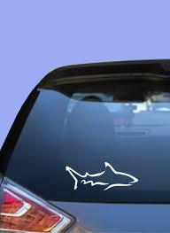 Shark Car Decal Shark Truck Decal Shark Sticker Shark Decal Waterproof Vinyl Shark Fisherman Decal Fisherman Sticker Decal For Car In 2020 Truck Stickers Rear Window Truck Decals
