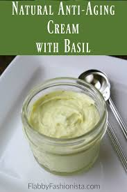 natural anti aging cream with basil