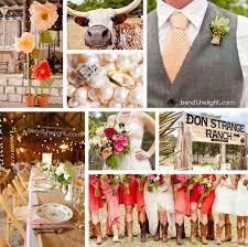 orange c pink wedding color scheme