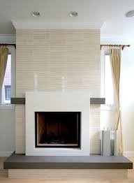 modern fireplace tile contemporary