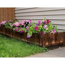 Wildon Home Rustic Wood Garden Fence Panel Landscape Edging Wayfair