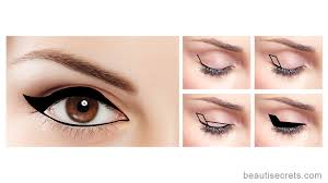 how to apply winged eyeliner for