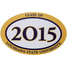 Lsu Tigers Class Of 2015 Oval Decal