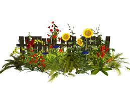 Second Life Marketplace Msd Broken Fence Sunflower Border Garden 4 14 Li M T