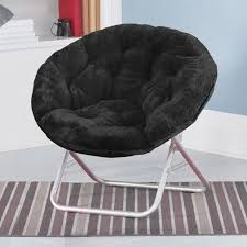 Amazon Com Saucer Chair For Kids Teens Saucer Chair Black Game Room Chair Home Kitchen