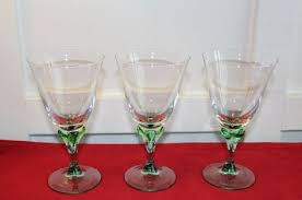 set of 3 stemware glasses arc france