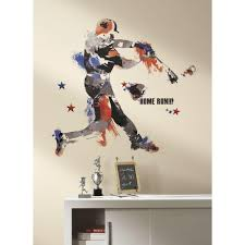 Roommates 32 5 In X 32 7 In Baseball Champion Giant Peel And Stick Wall Decal Rmk2499gm The Home Depot