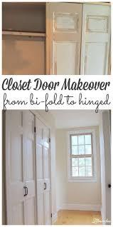 diy closet door makeover bi fold to