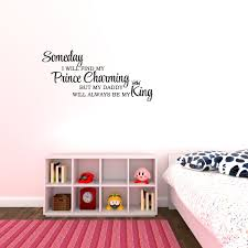 Someday I Will Find My Prince Charming Vinyl Lettering Wall Saying Decal Wall Sticker Nursery Kids Room Walmart Com Walmart Com