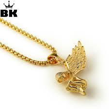 goldtone micro cherub angel pendant 29