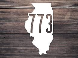 Chicago Car Decal Illinois Car Decal Area Code 773 Decal Etsy Outdoor Life Illinois Chicago Illinois
